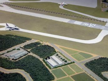 Model of runways at Aeronautical Musuem (without farm)
