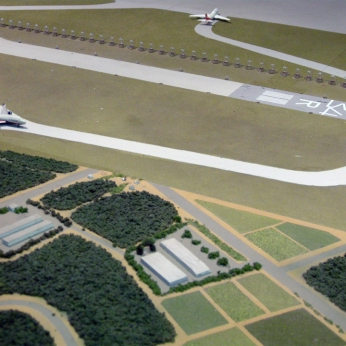 Model of runways at Aeronautical Musuem (without farm)