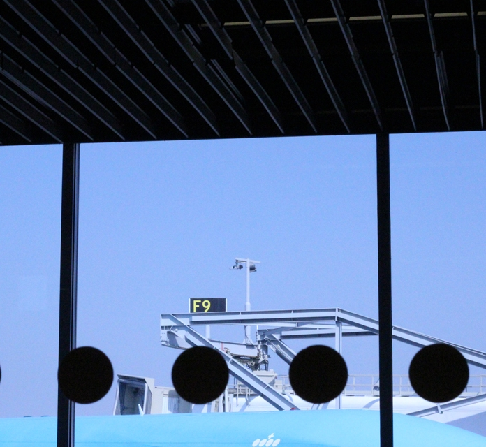 At Amsterdam airport